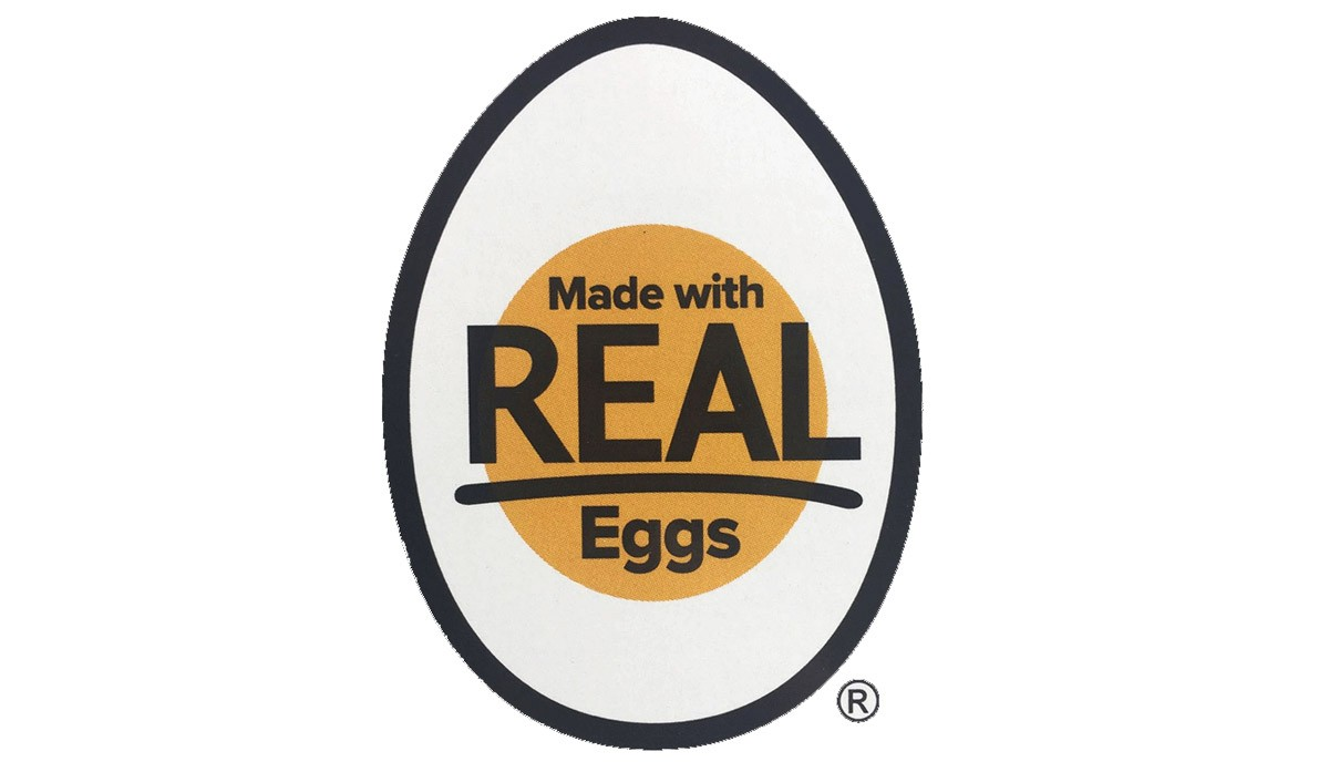 "The ""Made with REAL Eggs"" seal"