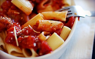 Nickel-free pasta and tomato