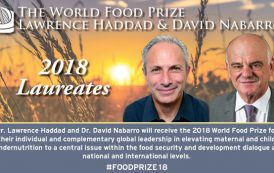World Food Prize awarded to nutrition leaders